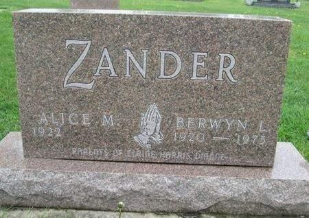 ZANDER, ALICE M. - Franklin County, Iowa | ALICE M. ZANDER
