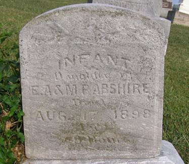 ABSHIRE, INFANT DAUGHTER - Fremont County, Iowa   INFANT DAUGHTER ABSHIRE