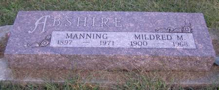ABSHIRE, MILDRED - Fremont County, Iowa | MILDRED ABSHIRE