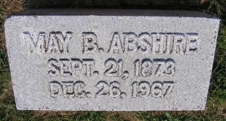 PIERSON ABSHIRE, MAY BELLE - Fremont County, Iowa   MAY BELLE PIERSON ABSHIRE
