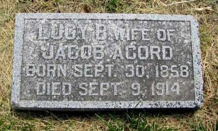 YOWELL ACORD, LUCY - Fremont County, Iowa   LUCY YOWELL ACORD