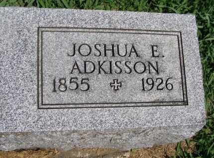 ADKISSON, JOSHUA E - Fremont County, Iowa   JOSHUA E ADKISSON
