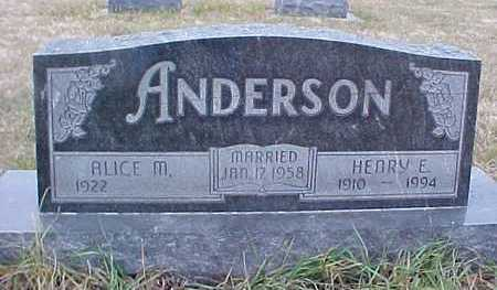 ANDERSON, HENRY - Fremont County, Iowa | HENRY ANDERSON