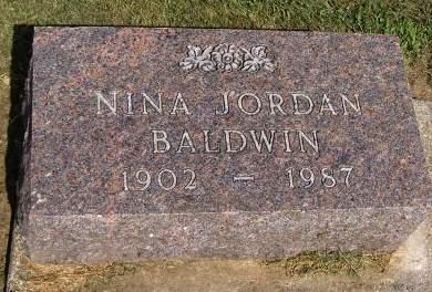 JORDAN BALDWIN, NINA - Fremont County, Iowa | NINA JORDAN BALDWIN
