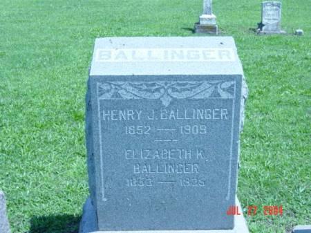 BALLINGER, HENRY J. - Fremont County, Iowa | HENRY J. BALLINGER
