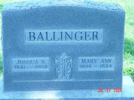 BALLINGER, JOSHUA S. - Fremont County, Iowa | JOSHUA S. BALLINGER