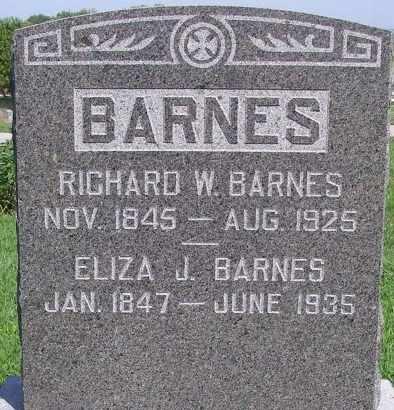 BARRETT BARNES, ELIZA J - Fremont County, Iowa | ELIZA J BARRETT BARNES