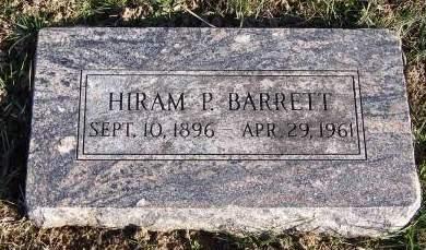 BARRETT, HIRAM P - Fremont County, Iowa   HIRAM P BARRETT