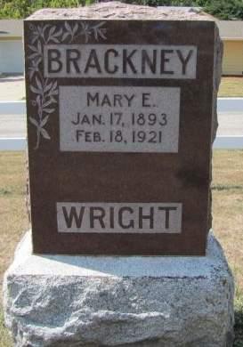WRIGHT BRACKNEY, MARY E - Fremont County, Iowa | MARY E WRIGHT BRACKNEY