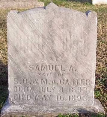 CARTER, SAMUEL A - Fremont County, Iowa | SAMUEL A CARTER