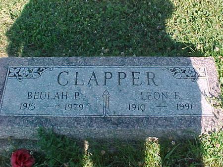 CLAPPER, BEULAH P. - Fremont County, Iowa | BEULAH P. CLAPPER