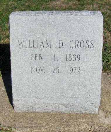 CROSS, WILLIAM D - Fremont County, Iowa   WILLIAM D CROSS