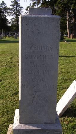 CUMMINGS, HARRISON - Fremont County, Iowa | HARRISON CUMMINGS