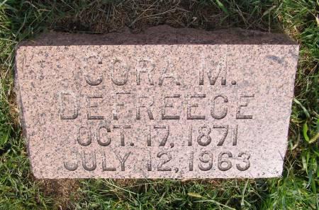 DEFREECE, CORA M - Fremont County, Iowa   CORA M DEFREECE