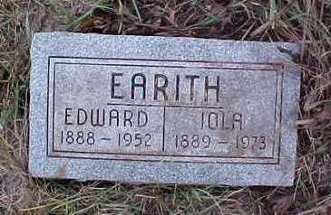 EARITH, EDWARD AND IOLA - Fremont County, Iowa   EDWARD AND IOLA EARITH