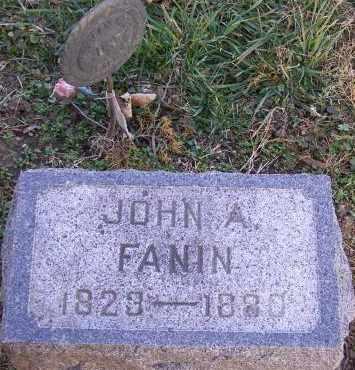 FANIN, JOHN A - Fremont County, Iowa   JOHN A FANIN