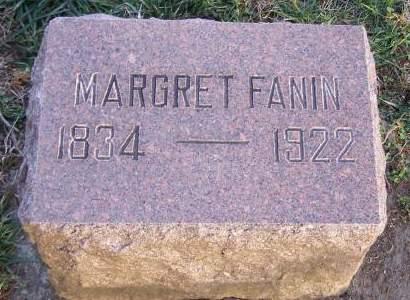 FANIN, MARGARET JANE - Fremont County, Iowa   MARGARET JANE FANIN