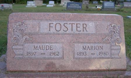 FOSTER, MAUDE - Fremont County, Iowa | MAUDE FOSTER