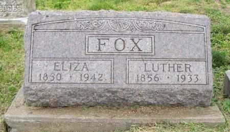FOX, ELIZA - Fremont County, Iowa   ELIZA FOX