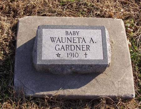 GARDNER, WAUNETA A - Fremont County, Iowa   WAUNETA A GARDNER