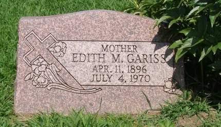 GARISS, EDITH - Fremont County, Iowa   EDITH GARISS