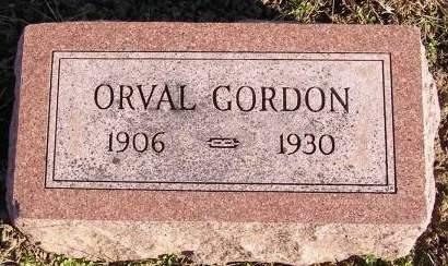 GORDON, ORVAL - Fremont County, Iowa   ORVAL GORDON