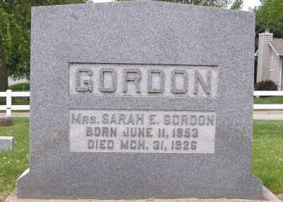 GORDON, SARAH - Fremont County, Iowa | SARAH GORDON