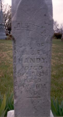 HANDY, ALBERT A. - Fremont County, Iowa | ALBERT A. HANDY