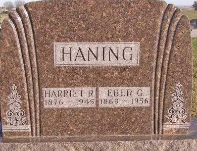 HEATON HANING, HARRIET R - Fremont County, Iowa   HARRIET R HEATON HANING