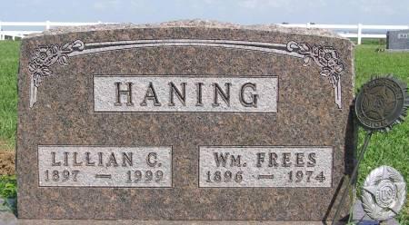 HANING, WILLIAM FREES - Fremont County, Iowa   WILLIAM FREES HANING