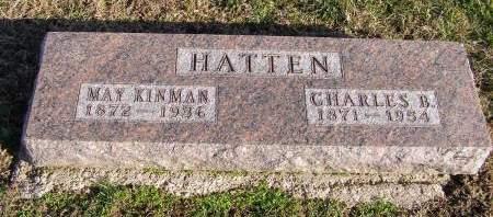 HATTEN, CHARLES B - Fremont County, Iowa   CHARLES B HATTEN