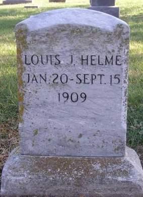HELME, LOUIS J - Fremont County, Iowa | LOUIS J HELME