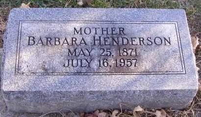 HENDERSON, BARBARA - Fremont County, Iowa | BARBARA HENDERSON