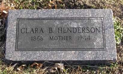 HENDERSON, CLARA - Fremont County, Iowa | CLARA HENDERSON