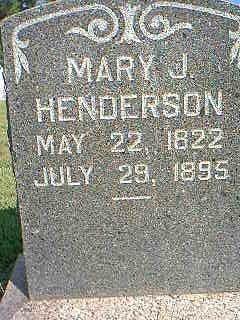 HENDERSON, MARY - Fremont County, Iowa | MARY HENDERSON