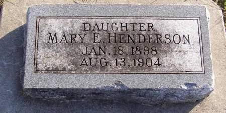 HENDERSON, MARY E - Fremont County, Iowa   MARY E HENDERSON