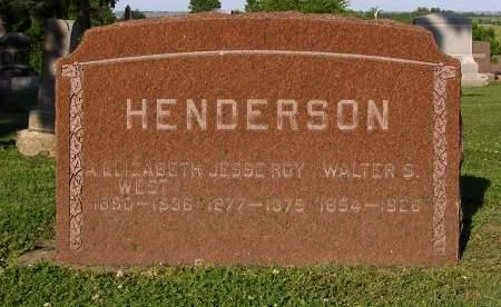 WEST HENDERSON, A ELIZABETH - Fremont County, Iowa | A ELIZABETH WEST HENDERSON