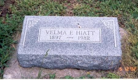 HIATT, VELMA F. - Fremont County, Iowa | VELMA F. HIATT