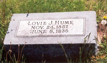 HUME, LOVIE J. - Fremont County, Iowa | LOVIE J. HUME