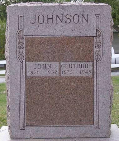 JOHNSON, OLIVE GERTRUDE - Fremont County, Iowa   OLIVE GERTRUDE JOHNSON
