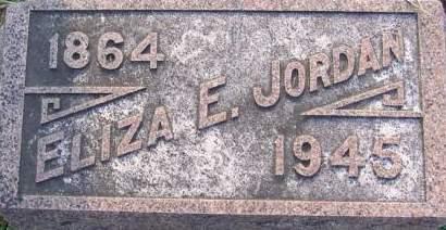 JORDAN, ELIZA E - Fremont County, Iowa | ELIZA E JORDAN