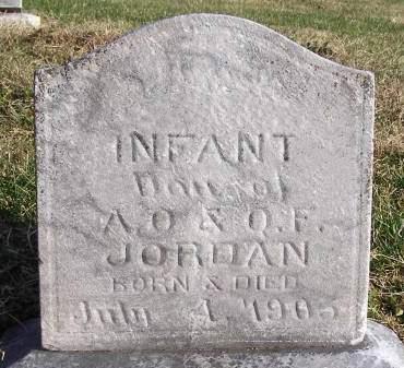 JORDAN, INFANT DAUGHTER - Fremont County, Iowa | INFANT DAUGHTER JORDAN