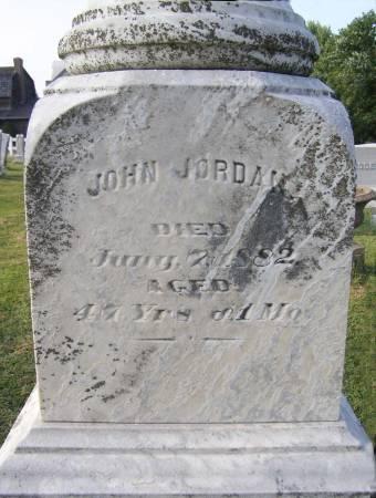 JORDAN, JOHN WILLIAM - Fremont County, Iowa   JOHN WILLIAM JORDAN