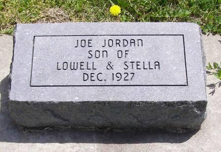 JORDAN, JOE - Fremont County, Iowa   JOE JORDAN