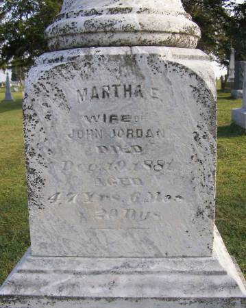 HENDERSON JORDAN, MARTHA ELMIRA - Fremont County, Iowa | MARTHA ELMIRA HENDERSON JORDAN