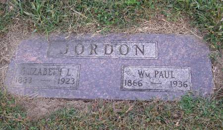 JORDAN, ELIZABETH L - Fremont County, Iowa   ELIZABETH L JORDAN