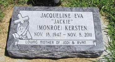MONROE KERSTEN, JACQUELINE EVA - Fremont County, Iowa   JACQUELINE EVA MONROE KERSTEN