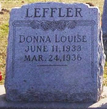 LEFFLER, DONNA LOUISE - Fremont County, Iowa   DONNA LOUISE LEFFLER