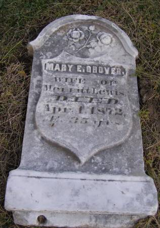 GROVER LEWIS, MARY E - Fremont County, Iowa   MARY E GROVER LEWIS