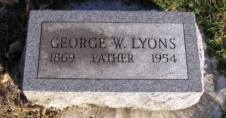 LYONS, GEORGE W - Fremont County, Iowa | GEORGE W LYONS